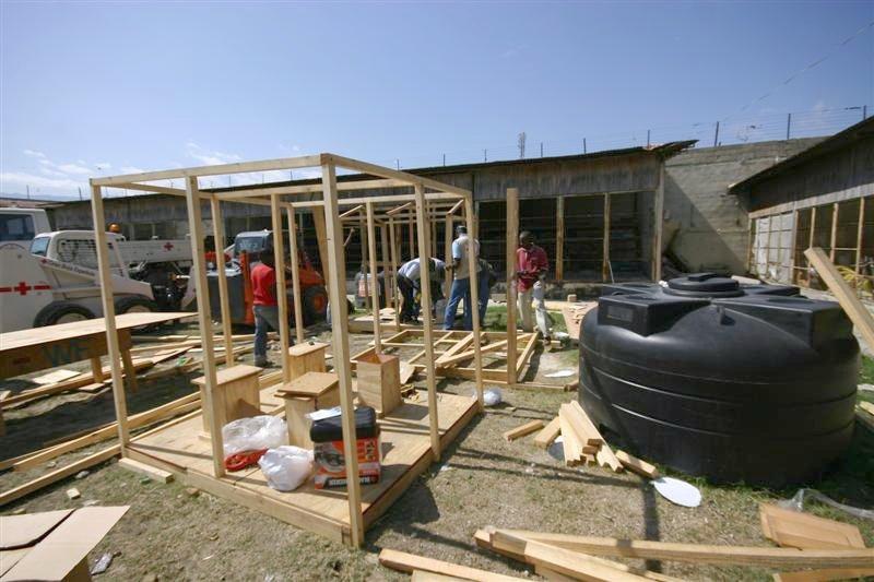 New latrines under construction...