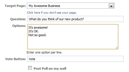 Facebook poll-settings