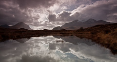 Reflections (etunar) Tags: black reflection landscape scotland isleofskye cuillins sligachan marsco blackcullin ambasteir sgurrnangilean