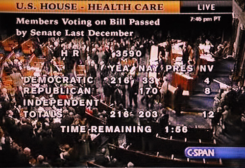 Historic Moment and Not One Republican Vote