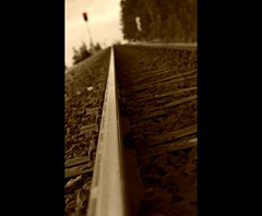 you will find your way (Frank Wuestefeld) Tags: railroad sepia train canon eos rebel 50mm railway zug lena creativecommons 50 harz m7 schienen railroadtrack 5018 400d frankwuestefeld germanyseries