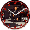 Carl's Dragster Racing C&C Automotive Clock