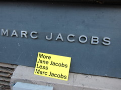 more jane jacobs and less marc jacobs (Tricia Wang ) Tags: nyc mike design postcard marc jacobs stereotype morejanejacobslessmarcjacobs jacobsjane