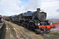 44871 & 70013. Penzance. 03-04-10. (*Steve King*) Tags: oliver royal loco class steam april 3rd cromwell 2010 penzance duchy brittania the 70013 44871