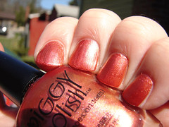 Piggy Polish The Right To Bare Feet (PuckLizardRN) Tags: pink gold nailpolish shimmer duochrome piggypolish therighttobarefeet