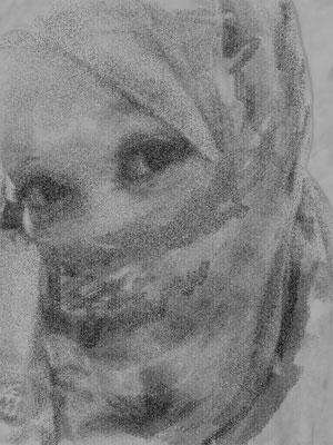 Sketch Awek Mata Lentik