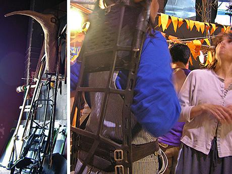 backpacks, internal organs for puppets