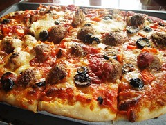 homemade sausage and cheese pizza - 21