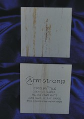 Armstrong Excelon Vinyl-Asbestos Floor Tile Sample - #759 Fawn White (Asbestorama) Tags: vintage design 60s designer inspection architectural retro safety finish sample service 1960s vat flooring survey gauge resilient 1964 asbestos covering floortile chr