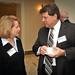 Tina Wilson and Chris Molloy, both with IBM, chat.