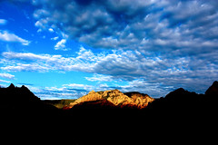 Spotlight on the mountains (TimTruong101) Tags: summer mountains clouds sedona