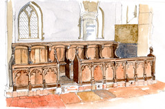 Choir Stalls, Church of St Clement, Sandwich, Kent