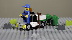 Collecting the garbage (MuTant 99) Tags: home toys lego miniature garbageman canonsl1