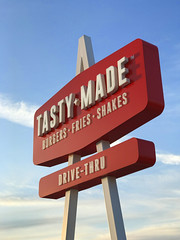 tasty made (brown_theo) Tags: closed sign tasty made lancaster ohio burgers fries shakes drivethru restaurant