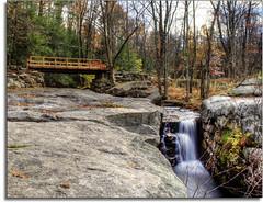 Fall in New York (kw~ny) Tags: bridge autumn newyork fall river waterfall nikon upstate hdr newpaltz hikenewyork mohonkpreserve