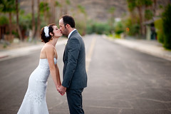 The World Fades Away (disneymike) Tags: california wedding sarah groom bride nikon kiss kissing dress palmsprings husband andrew wife gown weddingdress nikkor d3 weddinggown 85mmf14d