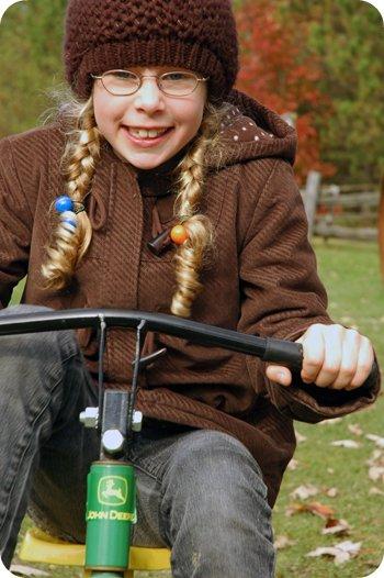 Sarah on a trike