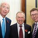 L-R Lord Hesketh, Chairman Towcester Racecourse, Barry Johnson (FRB) and Gerry Sutcliffe, Minister for Sport