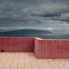 Tenerife, Canary Islands, Spain (Julio López Saguar) Tags: pink españa muro wall clouds spain rosa nubes tenerife canaryislands horizont horizonte islascanarias juliolópezsaguar