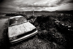 Abandoned Car, Dingle, Co Kerry, Ireland (2c..) Tags: ireland summer sky mountains abandoned film car landscape flickr kerry best 2c 72dpipreview ©lowresolutionpreview ©2c