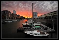 Sunset (krobbie) Tags: sunset marina geotagged rotterdam nikon random van kopvanzuid kop zuid jachthaven krobbie nikoncapturenx d700 nikond700 1424mmf28g geo:lat=51908865 geo:lon=4500886