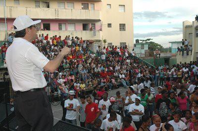 Gustavo Rojas Lara habla en marcha 20089