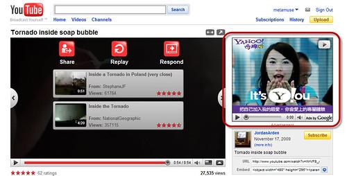 yahoo's ads on google