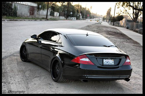Infiniti G35 Blacked Out. Micheals lacked out Mercedes