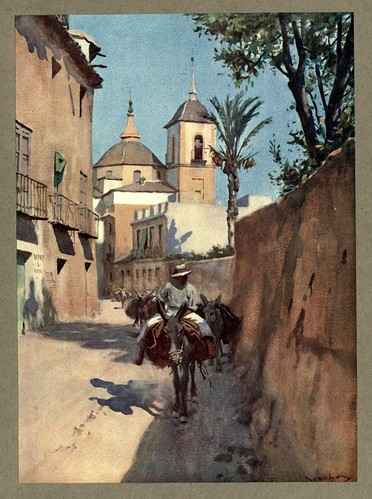 020- La calle de la acequia en Murcia-An artista in Spain 1914- Michael Arthur C.
