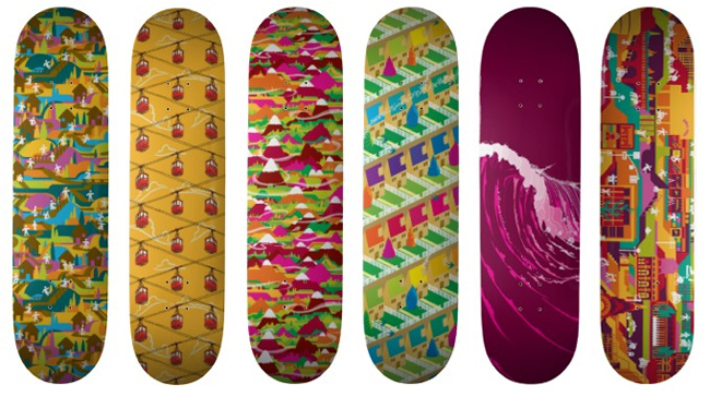 Gencept Addicted To Designs Beautiful Skateboard Deck