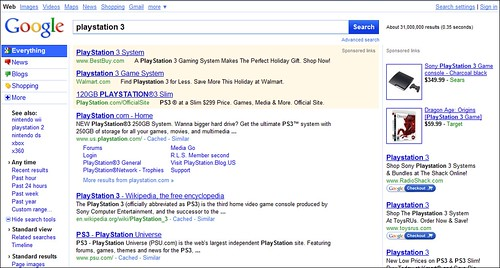 New Google Search Results 112609
