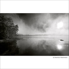Misty Morning |   (Anatoly Kraynikov) Tags: morning sun mist lake reflection tree water rock finland dawn scenery reflexions soe lanscape       kukkia  puutikkala  blackwhitephotos  superaplus aplusphoto artofimages bestcapturesaoi elitegalleryaoi
