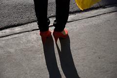 red velvet high heels on black ice (teh hack) Tags: street bridge people woman canada feet mike person photography photo nikon shoes downtown highheels edmonton candid alberta nikkor flickrmeet 1870 d80