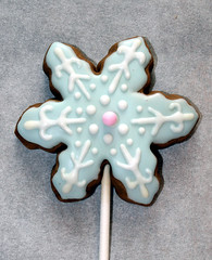 Pastel Blue (alicakescupcakery) Tags: snowflake blue cookie pastel alicakes alicakescupcakery
