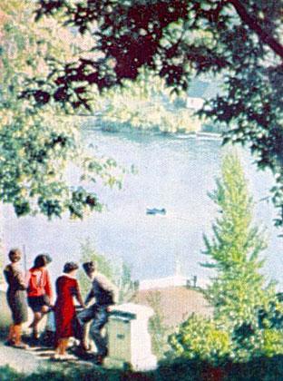 Житомир. Река Тетерев. 1963 год