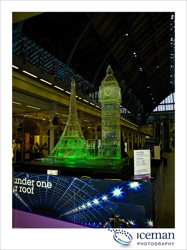 St Pancras Ice Sculpture 001