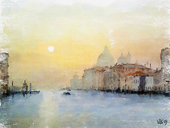 Grand canal, Venice (piker77) Tags: venice italy painterly art digital photoshop watercolor painting canal interesting media natural aquarelle digitale grand manipulation simulation peinture illusion virtual watercolour transparent acuarela tablet technique wacom stylized pintura imitation  aquarela aquarell emulation malerei pittura virtuale virtuel naturalmedia    piker77wc arthystorybrush