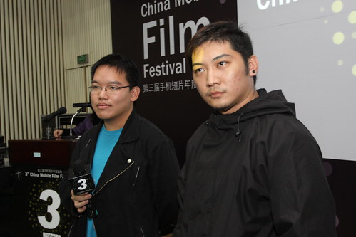 with Singapore filmmaker Derrick Lui during Q and A session