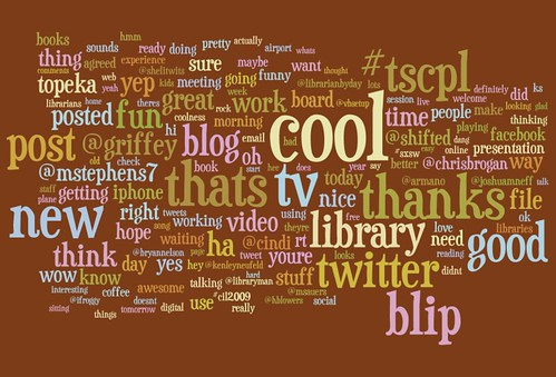 Twitter wordle screenshot