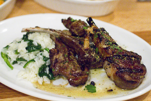 Lamb Chops with Rice