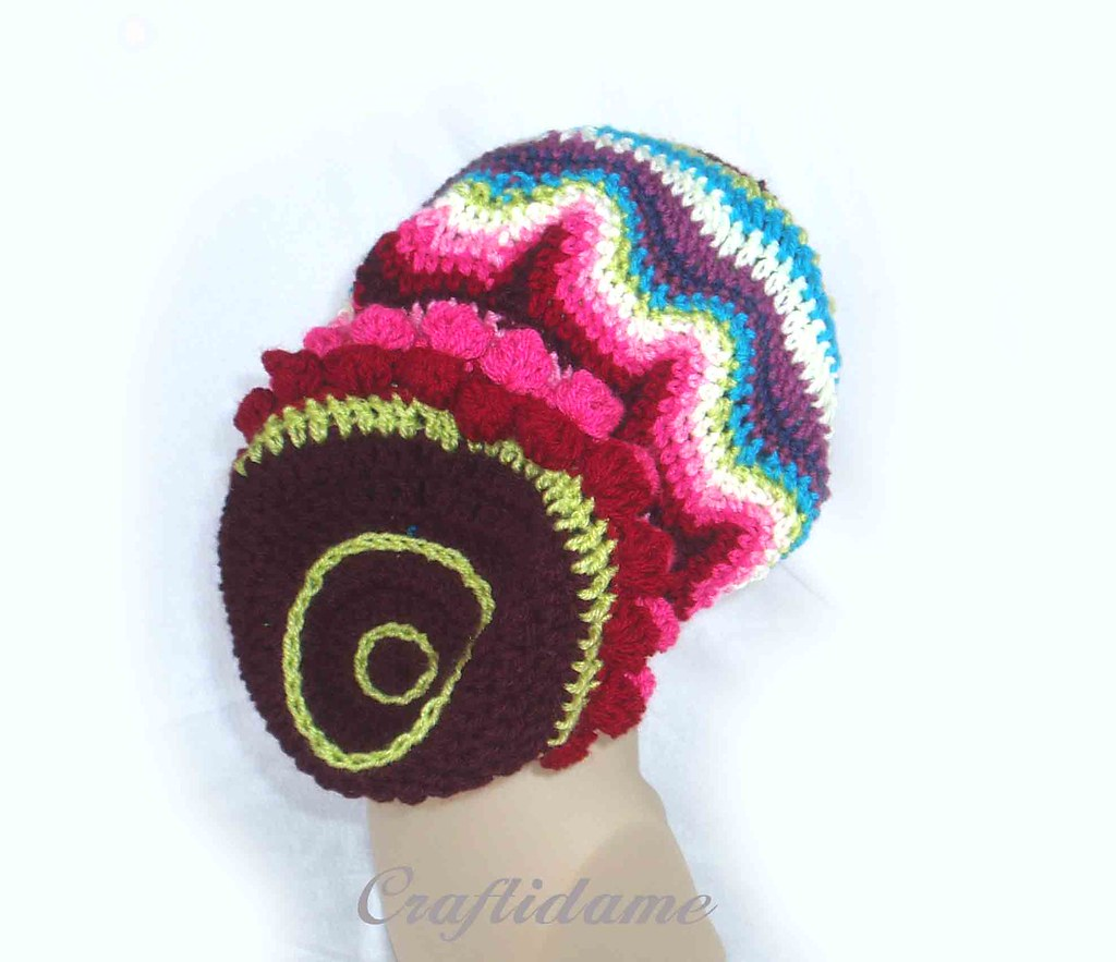 53ff10d3781 Funky Slouchy Crochet Tam Rasta (craftidame1) Tags  winter hat fashion  dreadlocks boots designer