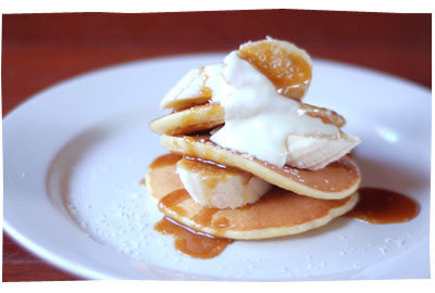 Pancakes Bananas and Coconut