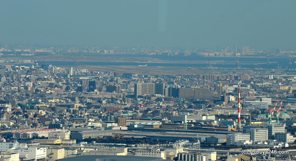 Haneda Airport in the distance.