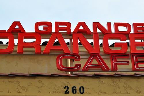 LE GRANDE ORANGE CAFE SIGNAGE