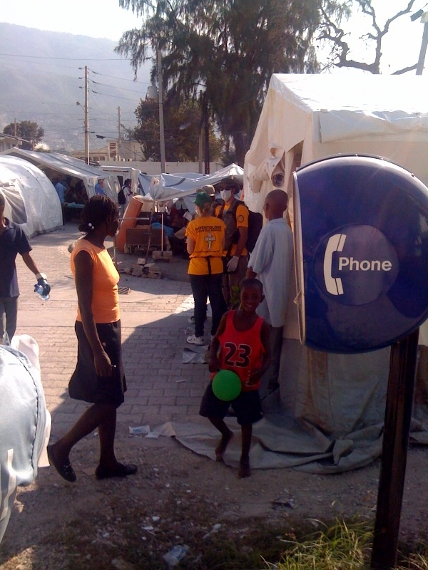 Playing with a ball near the medical tent #HaitiDrDispatch