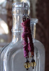 twig dreams in pink (aka maire dodd) Tags: pink yellow spring mixedmedia silk jewelry copper twigs sari citrine sterlingsilver