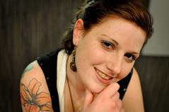 Lena Portrait (myaik) Tags: portrait woman brown smile face tattoo female nikon gesicht braun frau profil d5000