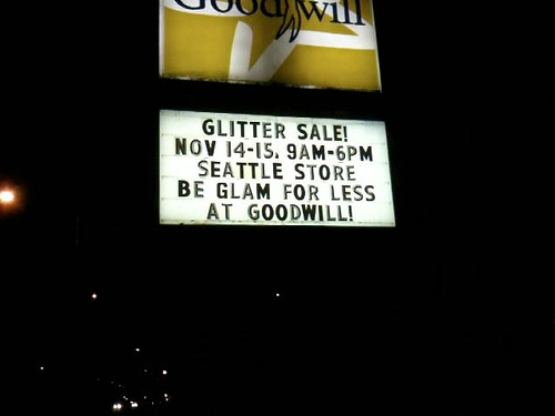 Seattle Glitter Sale sign