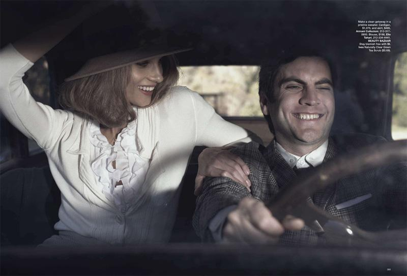 Anna Selezneva & Wes Bentley in Harper's Bazaar
