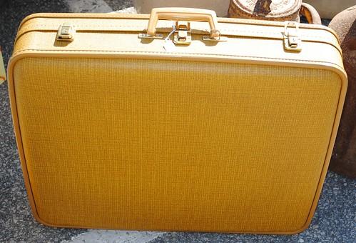 mustard suitcase